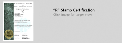R Stamp Certification